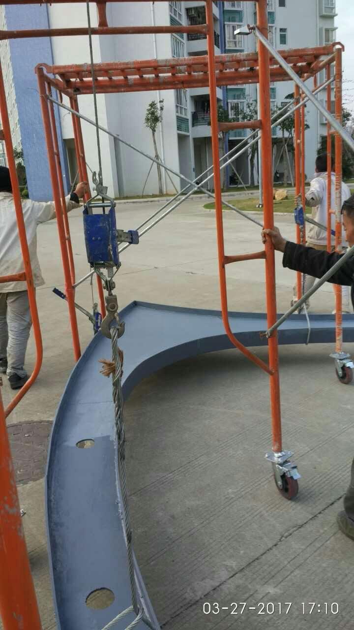 汕尾膜结构车棚的钢结构立柱